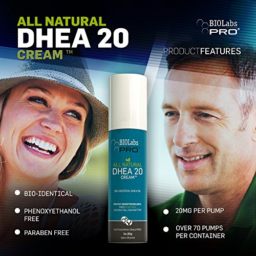 All Natural Bioidentical Dhea Cream 20mg - Two Month Supply