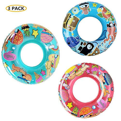 WenYing 3 Packs Inflatable Swimming Tube for Kids, 50CM Swimming Pool Floats, Children Swim Ring, Summer Beach Pool Toy, 20 Inch