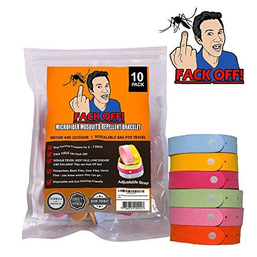 Fack Off! Microfiber Mosquito Repellent Bracelet (10 Pack)