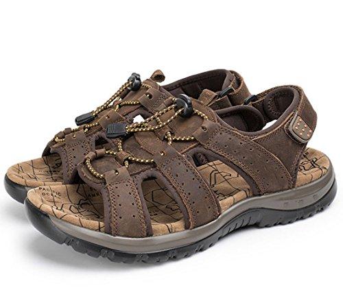 Hombres Al Ocio Libre Sandalias Corte De Bajo Zapatos Playa De Darkbrown Zapatos De Aire SR06tq0x