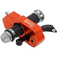 Motorcycle LOCK - A Grip / Throttle / Brake / Handlebar Grip Metallic Lock, Anti Theft Secure your Motorbike, Bike, Scooter, Moped or ATV in Under 5 Seconds.! From SuperPremium (Orange)