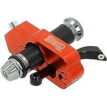 SuperPremium Motorcycle Lock - A Grip/Throttle / Brake/Handlebar Grip Metallic Lock, Anti Theft Secure Your Motorbike, Bike, Scooter, Moped or ATV in Under 5 Seconds.! from (Orange)