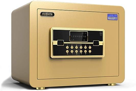 XSJZ Caja Fuerte Cajas fuertes, 25cm contraseña con la alarma Llave Caja fuerte for Ministerio de Seguridad de la cautela taquillas Cajas Fuertes (Color : B): Amazon.es: Bricolaje y herramientas