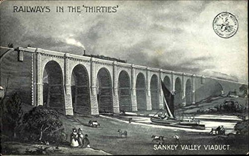 Sankey Valley Viaduct Trains Railroad Original Vintage (Railroad Viaduct)