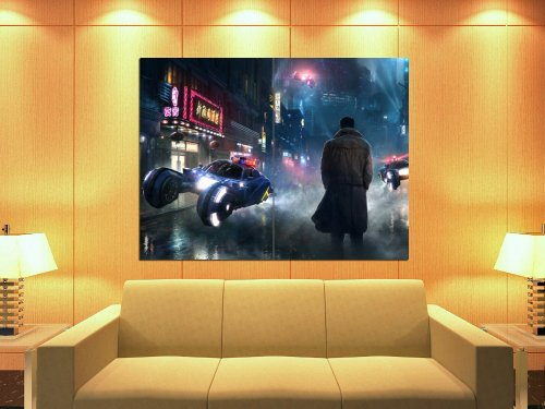 Blade Runner Art Cyberpunk Movie Rick Deckard 47x35 Huge Giant Print Poster - Giant Movie Poster