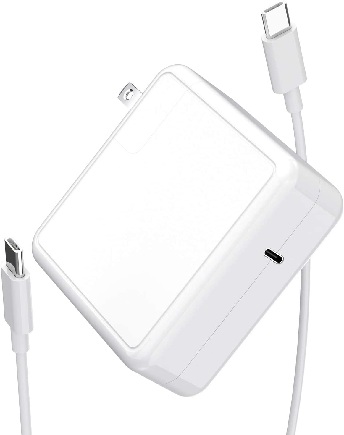 Mac Book Pro Charger USB C Power Adapter 61W, PD Mac Book Air Charger, Compatible 61W, 45W, 36W, 27W,12W for Mac Book Pro/Air, i-Pad Pro 12.9'', 11'',Switch, More Type C Devices,6.6ft USB C Cable