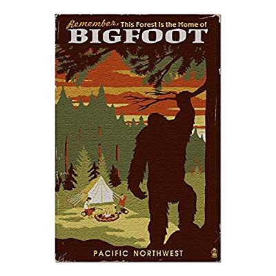 Pacific Northwest - Home of Bigfoot - WPA Style (Premium 1000 Piece Jigsaw Puzzle for Adults, 20x30, Made in USA!): Toys & Games