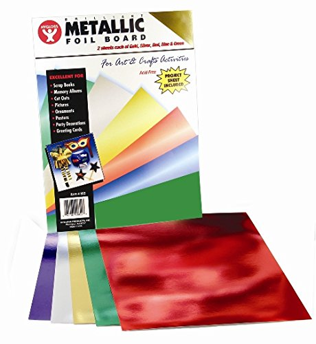 Hygloss Products Metallic Foil Paper Sheets – 10 x 13 Inch, 40 Sheets – Assorted Colors 10840