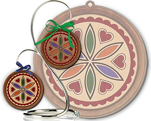 - Red Tail Crafters Love & Romance 3in/4in Hardwood Ornament PA Dutch Laser-Engraved Hex Sign