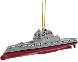 Kurt Adler NA2201 U.S Navy Modern Destroyer Ornament, 5-inch Length, Resin