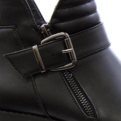 Black Biker Cleated Womens Black Lilley Boot xFqHtXwg