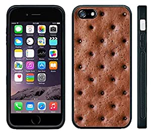 Apple iPhone 6 Black Rubber Silicone Case - Ice Cream Sandwich Looks Real