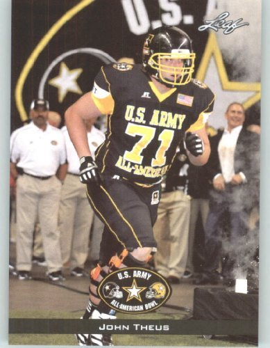 2012 Leaf US Army All-American Bowl Rookie Football Card # 44 John Theus OL - Georgia Bulldogs - Bolles School Jacksonville - Jacksonville Stores Fl