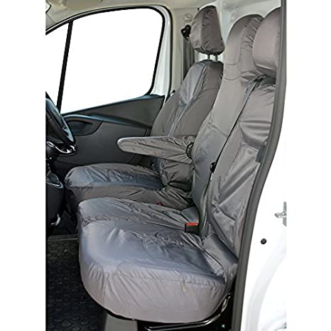INK-WSC-3004 Inka Traffic Fully Tailored Inka Waterproof Front Seat Covers 2001-2014 Heavy Duty Right Hand Drive Grey