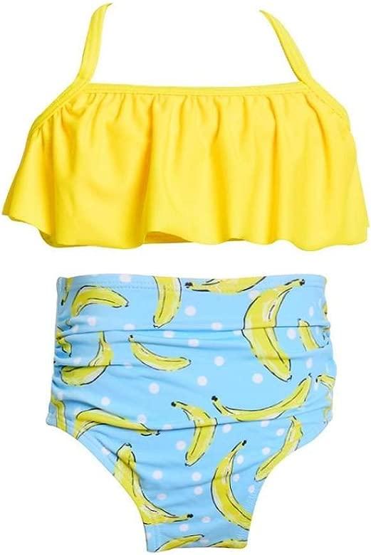 QUICKLYLY Trajes 2PCS Ropa Bebe Niña de Baño Traje Determinado del bikiní del Traje de Baño del Traje de Baño de para la Natación Tops de Pantalones