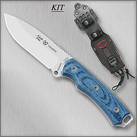 Cuchillo Miguel Nieto CHAMAN KIT KATEX AZUL 140-BK