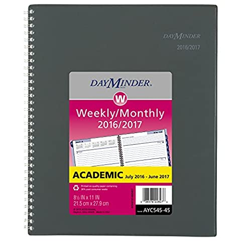 DayMinder Academic Year Weekly / Monthly Planner, July 2016 - June 2017, 8-1/2