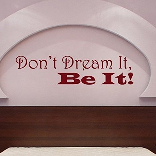 YINGKAI Don't Dream It, Be It. Rocky Horror/Party Monster Movie Quote Living Room Vinyl Carving Wall Decal Sticker For Home (Horror Quotes)
