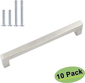 homidy Brushed Nickel Cabinet Handles Drawer Pulls 160mm Hole Distance Modern Cabinet Hardware Cabinet Pulls 10 Pack