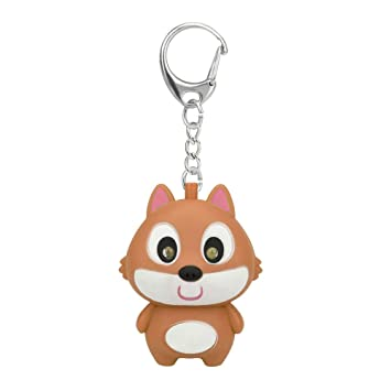 Amazon.com: Pausseo Cute Cartoon Squirrel Glows Keychain ...
