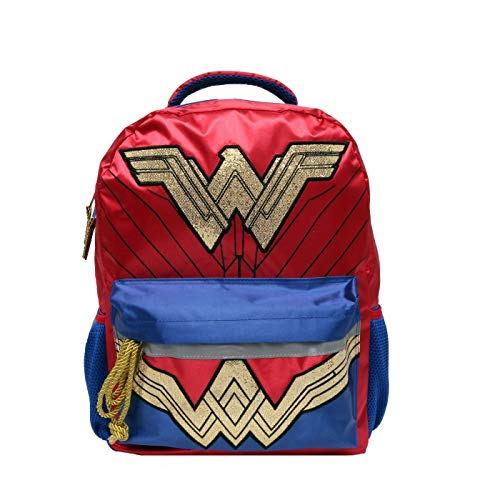 Price comparison product image Wonder Woman Backpack Wonder Woman Accessory Wonder Woman Gift - DC Comics Backpack Wonder Woman Bag,  Glitter Gold