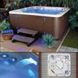 Starlight Hot Tubs Northern Star 5-Person 41-Jet Hot Tub with Sterling Silver White Shell and Gray Cabinet