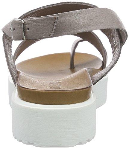 Inuovo 6083 - Sandalias de Talón Abierto Mujer Gris - gris