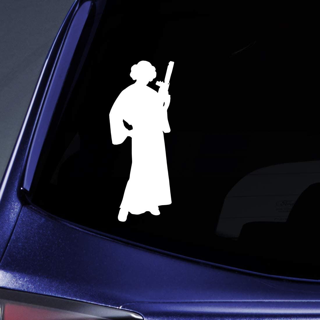 "Bargain Max Decals Star Princess Silhouette Sticker Decal Notebook Car Laptop 5.5"" (White)"