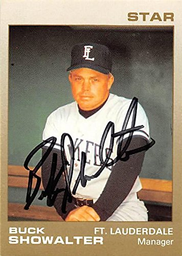 Buck Showalter autographed Baseball Card (Fort Lauderdale, Yankees) 1989 Star #19 Minor League Rookie