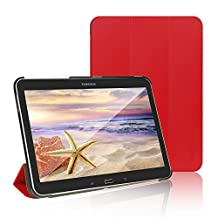 Tab 4 10.1 Case, JETech® Gold Slim-Fit Smart Case Cover for Samsung Galaxy Tab 4 10.1 (10 Inch) Tablet PC with Auto Sleep/Wake Feature (Red)
