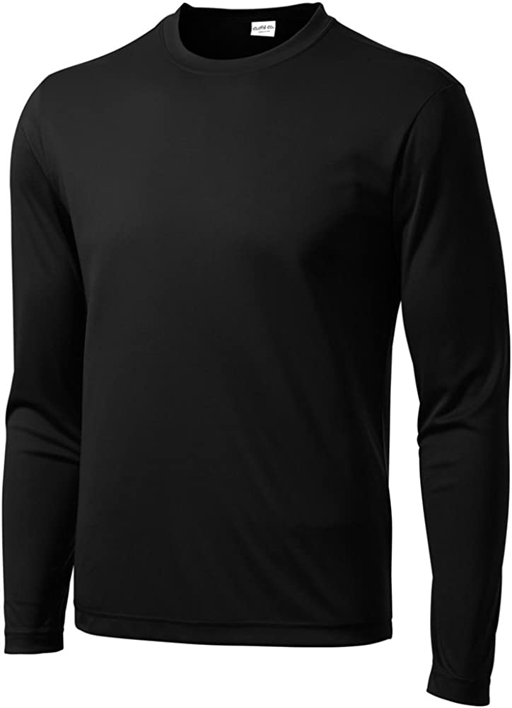 Clothe Co. Men's Long Sleeve Moisture Wicking Athletic Sport Training T-Shirt