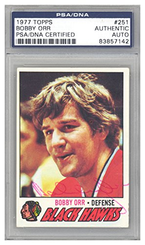Bobby Orr Autographed Signed 1977 Topps Card #251 Chicago Blackhawks - PSA/DNA Authentic ()