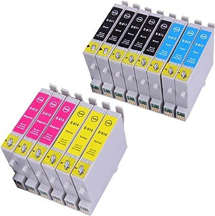 14 Multipack de alta capacidad Epson T0615 Cartuchos Compatibles 5 ...