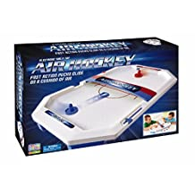 Game Zone P25118 International Playthings - Electronic Table-Top Air Hockey - Fast-Paced Sports Fun in an Easily Portable Battery-Operated Rink for Ages 5 and up