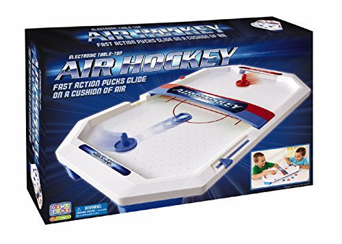 International Playthings Game Zone –  Electronic Table-Top Air Hockey – Fast-Paced Sports Fun in an Easily Portable Battery-Operated Rink for Ages 5 and Up – DiZiSports Store