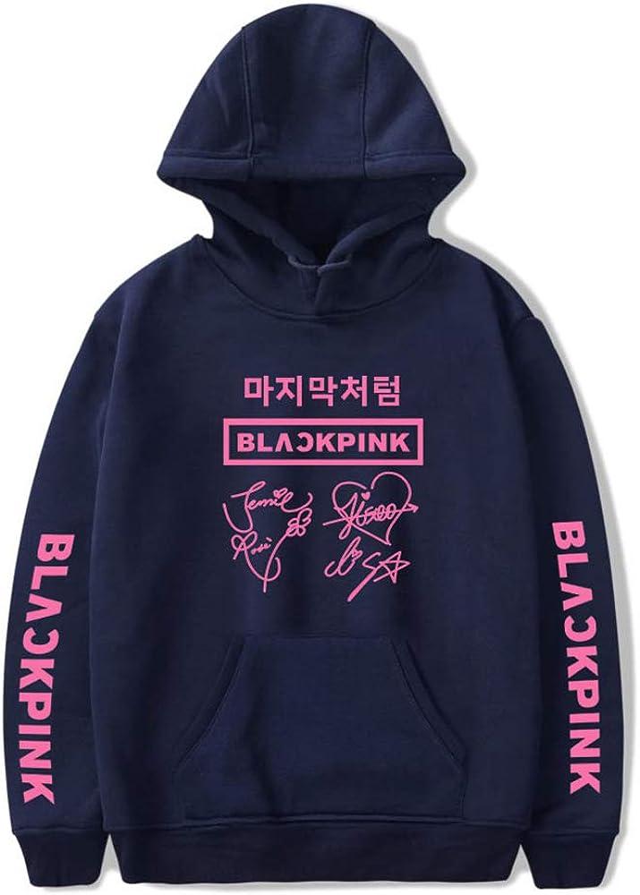 NCTCITY Kpop Blackpink Sweat-Shirts /à L/âche Capuche Mod/èle de Signature Imprime Pullover Manche Longue Loisir Hip Hop Pull Sweats Tops pour Hommes Femmes Fan Teen JISOO Jennie ROS/É Lisa