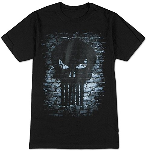 Punisher Bricks Logo T-Shirt Size XXLBlack ()