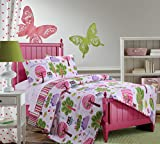 Best Greenland Home Home Fashion Pinks - Greenland Home 3 Piece Woodland Girl Quilt Set Review