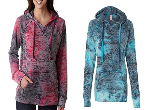 Weatherproof Ladies Burnout Hooded Pullover Fleece Burnout Hoodies Colorful Hoodies Small Raspberry-Bahama ()