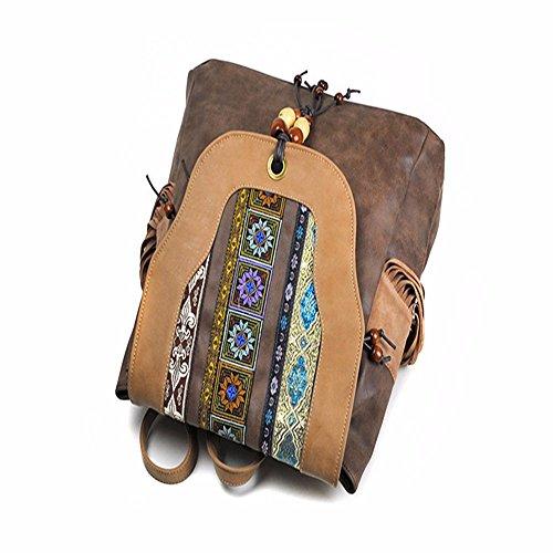 Sac de de main de dos à de chinois style style ethnique à pu féminin style YDIUDIU d'été broderie sac gqYdgw