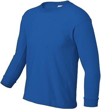 Ultra Cotton Long-Sleeve T-Shirt G240B -RED -M-12PK Gildan Boys 6.1 oz
