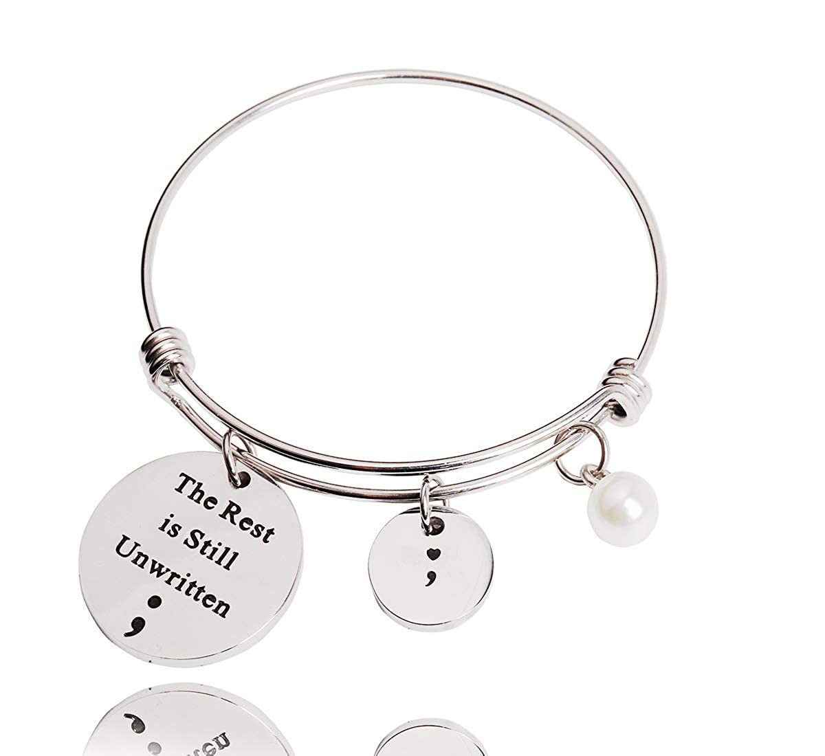 Amazon.com: REEBOOOR Semicolon Jewelry - Llavero con pulsera ...
