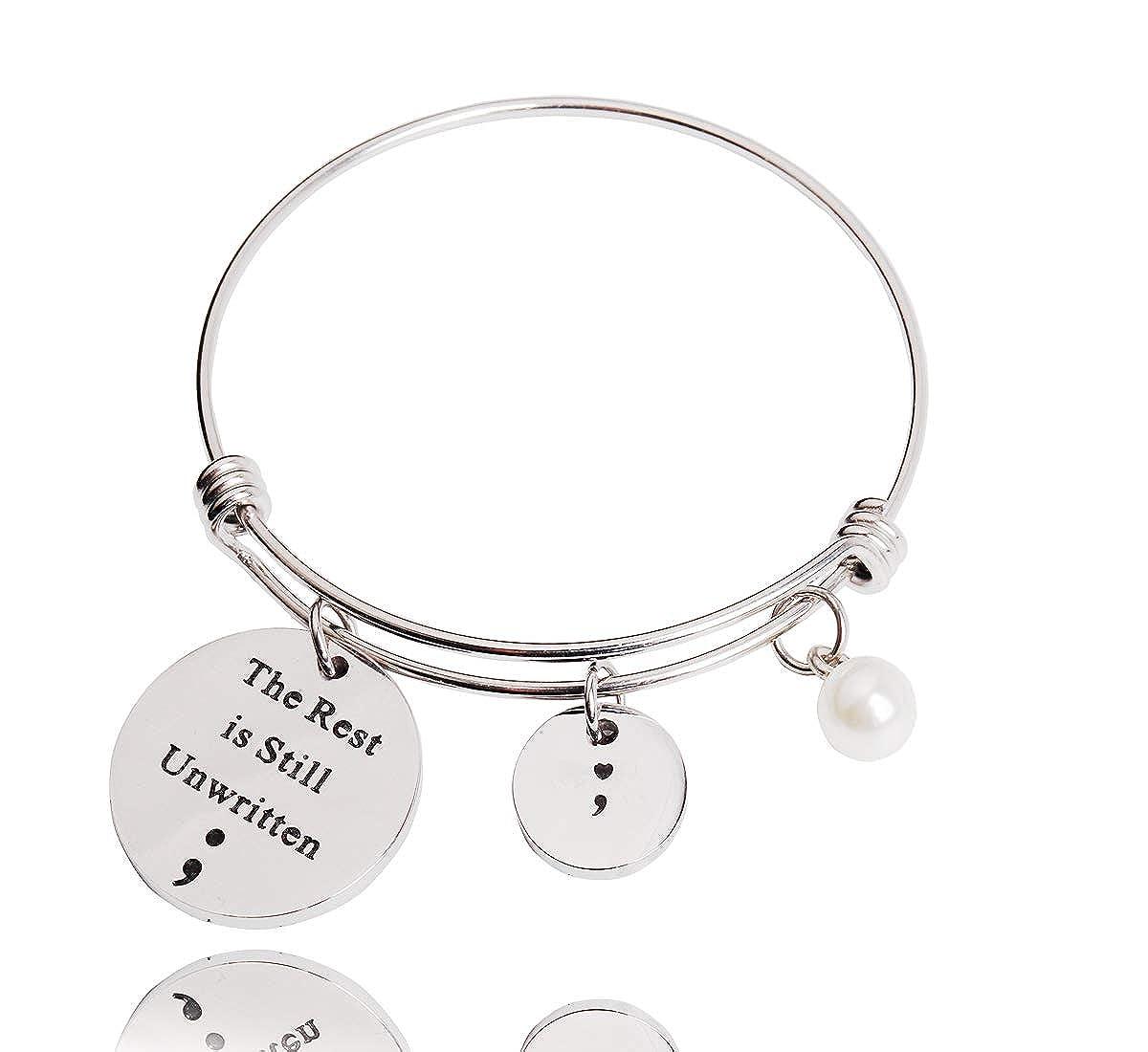 Amazon.com: REEBOOOR Semicolon Jewelry - Llavero con pulsera ...