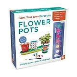 MindWare MW-24658 Paint-Your-Own Porcelain Flower Pots Craft Kits