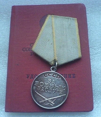For For Battle Merit USSR Soviet Union Russian Military Communist Silver Bolshevik Medal Ohotnikov
