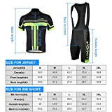 Lixada Men's Cycling Jersey Set Bicycle Short