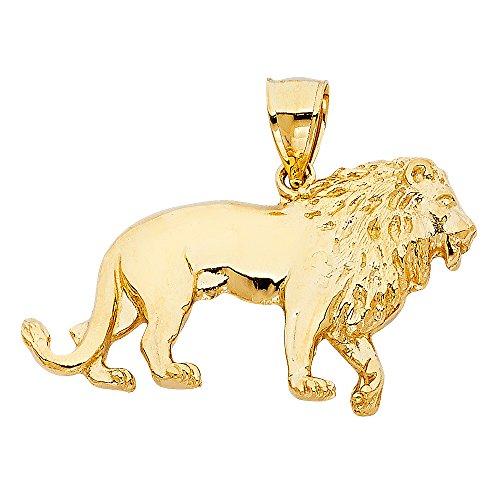 Zodiac Gold Lion Charm - 6