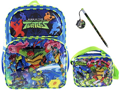 Teenage Mutant Ninja Turtles Backpack and Matching Lunch Bag PLUS Cowabunga Dude Pencil]()