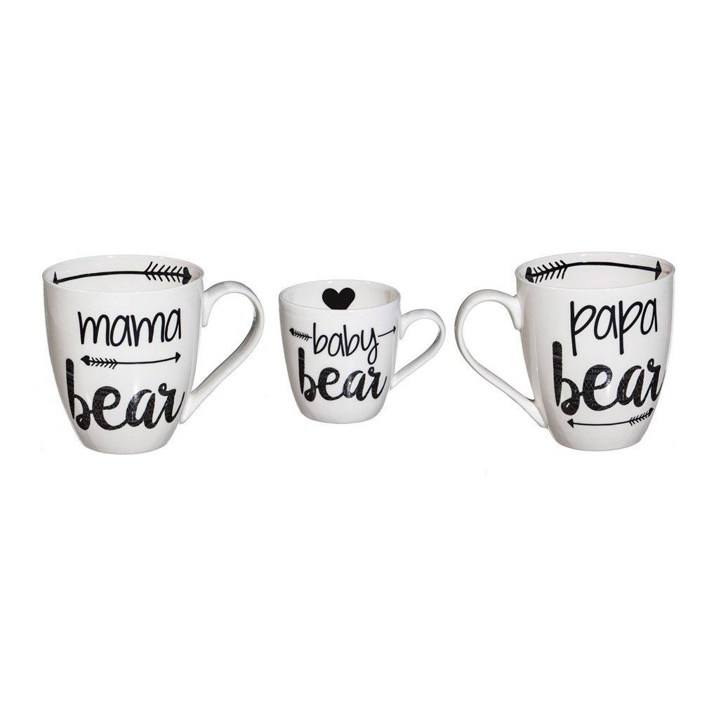 Cypress Home Baby Cub and Family Ceramic Cup O'Java Mug Gift Set