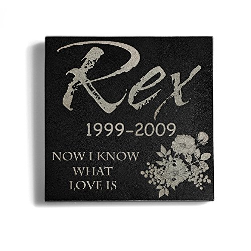 Personalized Memorial Pet Headstone Customized - Now I Know What Love Is - 6 x 6 - Business What Fedex Are Days For